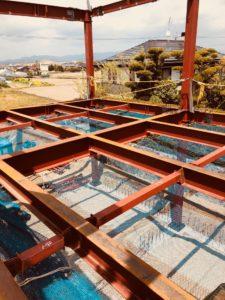 アンカーセットから建て方の写真