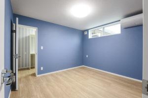 主寝室の現場の写真