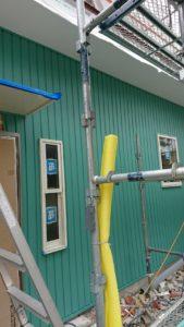 築古物件をリノベーション!外壁工事中の写真