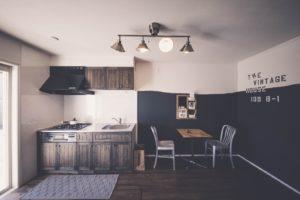 築31年のアパートをVintageリノベーションをしたキッチンの写真