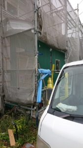 築古物件のリノベーション工事 外壁工事の写真