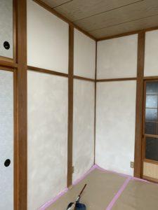 漆喰壁完成の写真